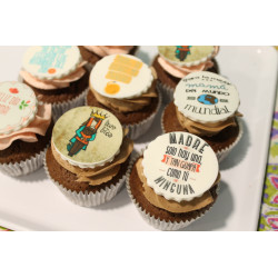 Pack 6 cupcakes con foto